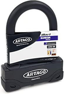 Artago 18ART120 Candado Antirrobo U Alta Gama- Doble Cierre MRT- o18- Homologado Sra- Sold Secure Gold- ART4- Bunker Selection- 85x120 mm