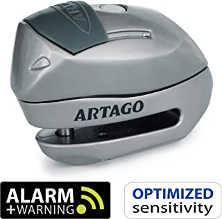 Artago 24S.6M Candado antirrobo Moto Disco Alarma 120 db Warning Inteligente- o 6 mm- metalico- Multicolor
