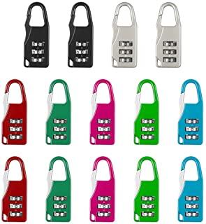 Color al Azar combinaci/ón de 3 d/ígitos Aibada Pack de 6 Mini candados de Seguridad para Maleta de Viaje