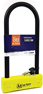 Urban Security UR120310 Candado Antirrobo U Alta Seguridad homologado Sra- Doble Cierre o18- 120x310- Made in EU
