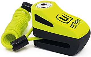 URBAN UR955Y Candado Antirrobo Disco Universal Moto y Scooter- Amarillo- Regalo Cable recordatorio